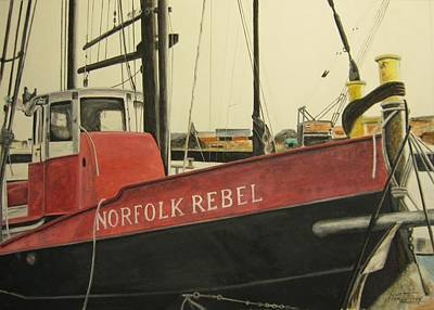 Poster featuring the painting Norfolk Rebel by Stan Tenney