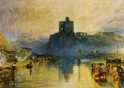 Norham Castle On The River Tweed Poster by J M W Turner