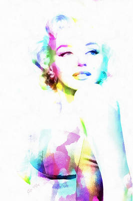 Norma Jeane In Watercolor Poster