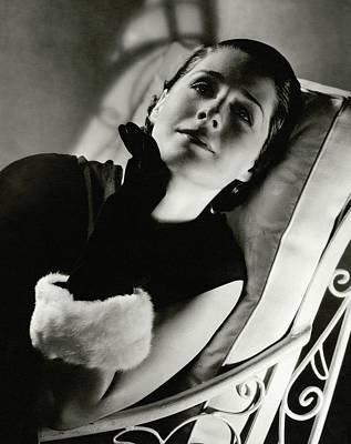 Norma Shearer On A Chair Poster by Edward Steichen