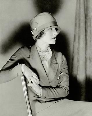 Norma Shearer Wearing A Cloche Hat Poster