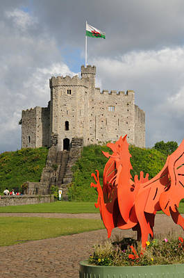 Poster featuring the photograph Norman Keep Cardiff Castle by Jeremy Voisey