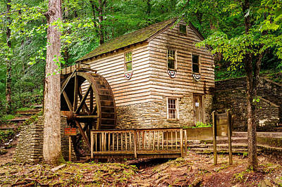 Rice Grist Mill - Norris Dam State Park - Tennessee Poster by Gregory Ballos