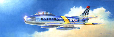 North American F-86f Sabre Poster