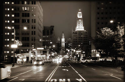 North Broad Facing City Hall Poster by Bill Cannon