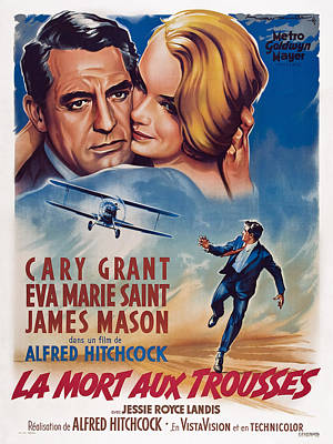 North By Northwest, Aka La Mort Aux Poster