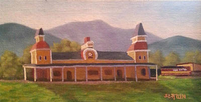 North Conway Depot Poster by Sharon E Allen