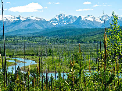 North Fork Of Flathead River And Mountains On West Side Of Glacier Np-mt Poster