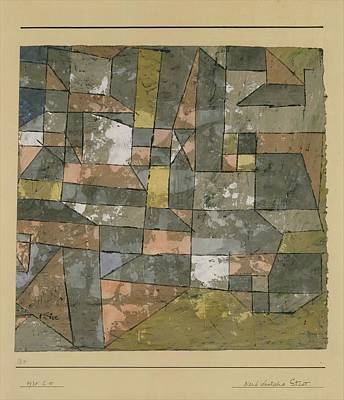 North German City Poster by Paul Klee