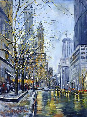 North Michigan Avenue Poster by Alexandra Maria Ethlyn Cheshire