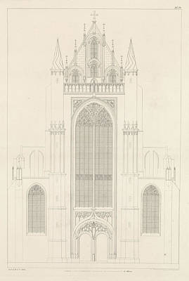 North Portal Of The Highland Church In Leiden Poster by Artokoloro