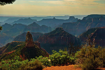 Poster featuring the photograph North Rim Grand Canyon Imperial Point by Bob and Nadine Johnston