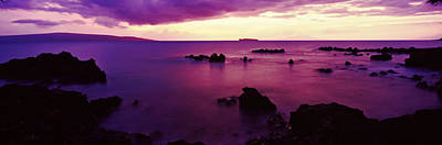 North Shore At Purple Sunset, Maui Poster by Panoramic Images