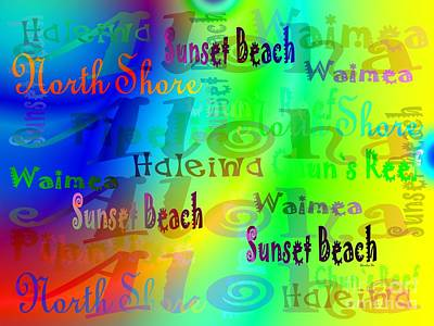 North Shore Beaches Poster