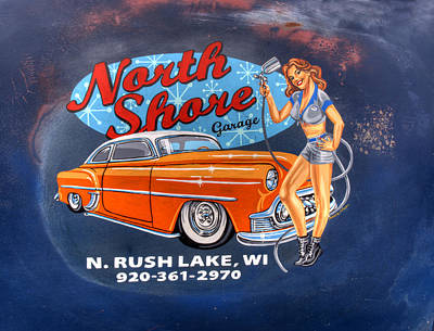 North Shore Garage Poster by Thomas Young