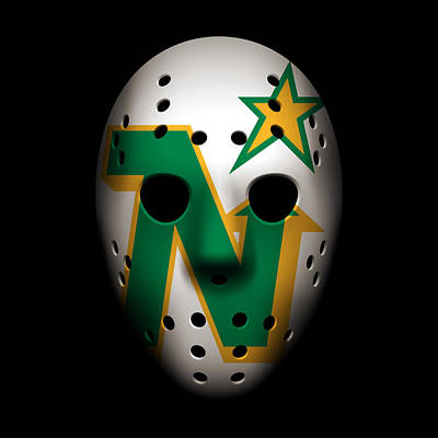North Stars Goalie Mask Poster by Joe Hamilton