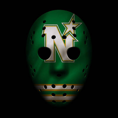 North Stars Jersey Mask Poster by Joe Hamilton