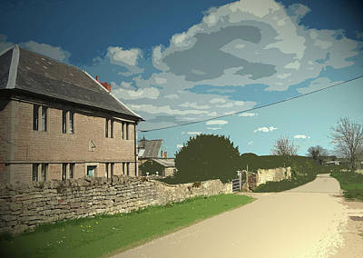 North Walls Lane And Farm, This Is A Very Old Dwelling Poster