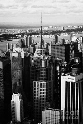 North West Manhattan Verizon Building And 1 Times Square New York City Skyline Poster by Joe Fox