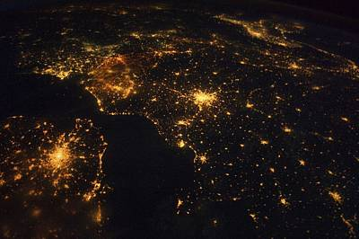 North-western Europe At Night, Iss Image Poster by Science Photo Library