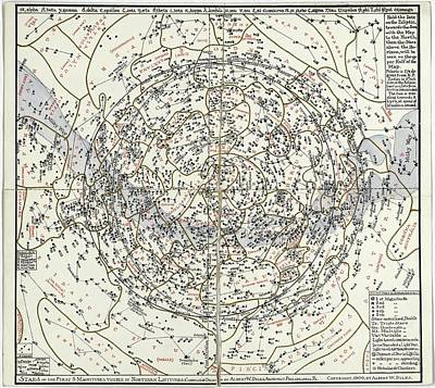 Northern Hemisphere Star Chart Poster by Library Of Congress, Geography And Map Division