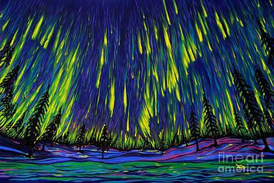 Northern Lights Poster by Jo-Anne Elniski