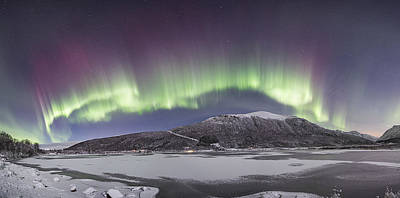 Northern Lights Panoramic Poster by Frank Olsen