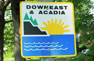 Northern Maine, Road Down East Poster