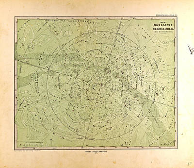 Northern Star Skygotha Justus Perthes 1872 Atlas Poster by English School