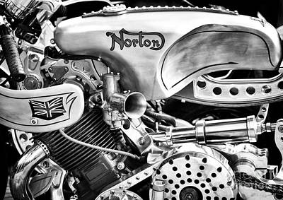 Norton Custom Cafe Racer Monochrome Poster by Tim Gainey