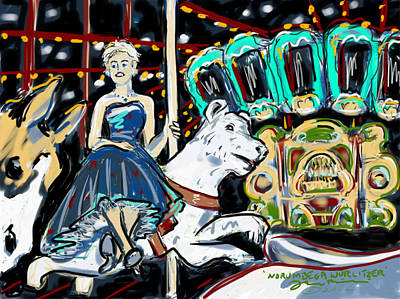 Poster featuring the painting Norumbega Wurlitzer by Jean Pacheco Ravinski