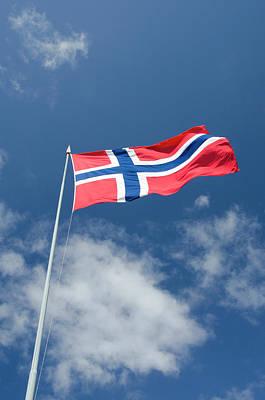 Norway, Bergen Norway Flag Poster