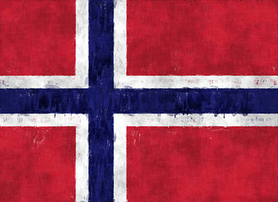 Norway Flag Poster by World Art Prints And Designs