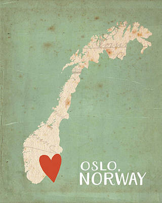 Norway Poster by Katie Doucette