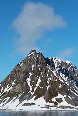 Norway Svalbard Hornsund Heavily Eroded Poster by Inger Hogstrom