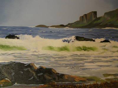 Norwick Beach Shetland Isles Poster