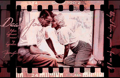 Nostalgia Joe Dimaggio And Marilyn Monroe Your Happiness Means My Happiness Poster by Douglas MooreZart