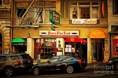 Nostalgic Sears Fine Food Restaurant San Francisco Dsc885brun Poster