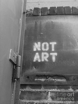 Not Art...are You Kidding Me? Poster