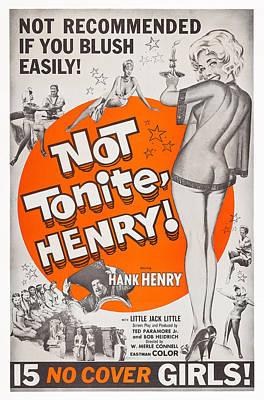 Not Tonight, Henry Aka Not Tonite Poster by Everett