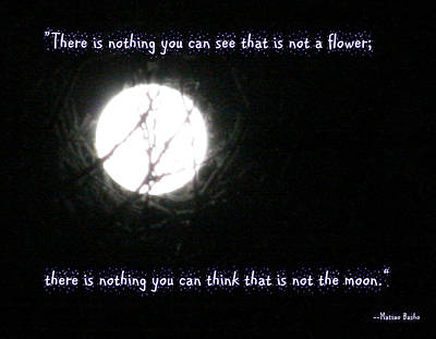 Nothing But The Moon Poster by Paula Tohline Calhoun