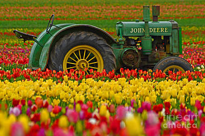 Nothing Runs Like A Deere Poster by Nick  Boren