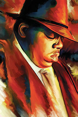 Notorious Big - Biggie Smalls Artwork Poster by Sheraz A
