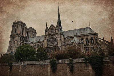 Notre Dame Cathedral - Paris Poster by Maria Angelica Maira
