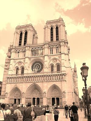 Poster featuring the photograph Notre Dame Cathedral by Cleaster Cotton
