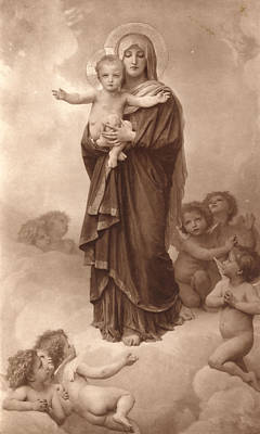 Notre-dame Des Anges  Poster by William Bouguereau