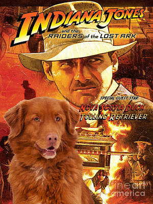 Nova Scotia Duck Tolling Retriever Art Canvas Print - Indiana Jones Movie Poster Poster by Sandra Sij