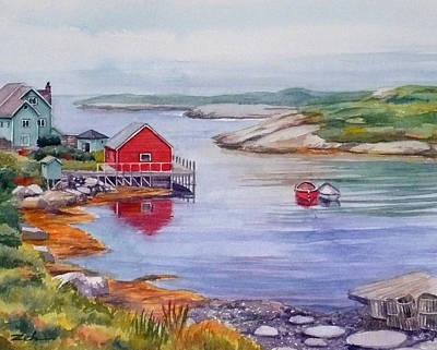 Nova Scotia Harbor Poster by Janet  Zeh