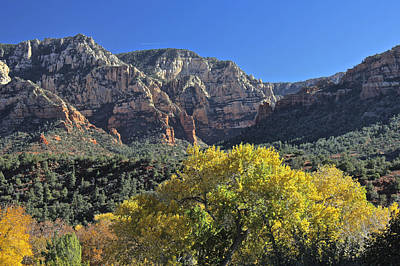 Poster featuring the photograph November In Sedona by Penny Meyers