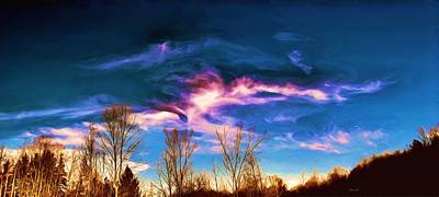 Poster featuring the painting November Skies by Dennis Lundell
